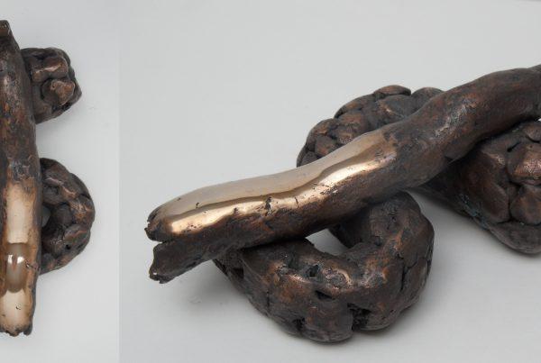 Banker's Luck Bankiersgeluk dollar in bronzen drol bronsbro