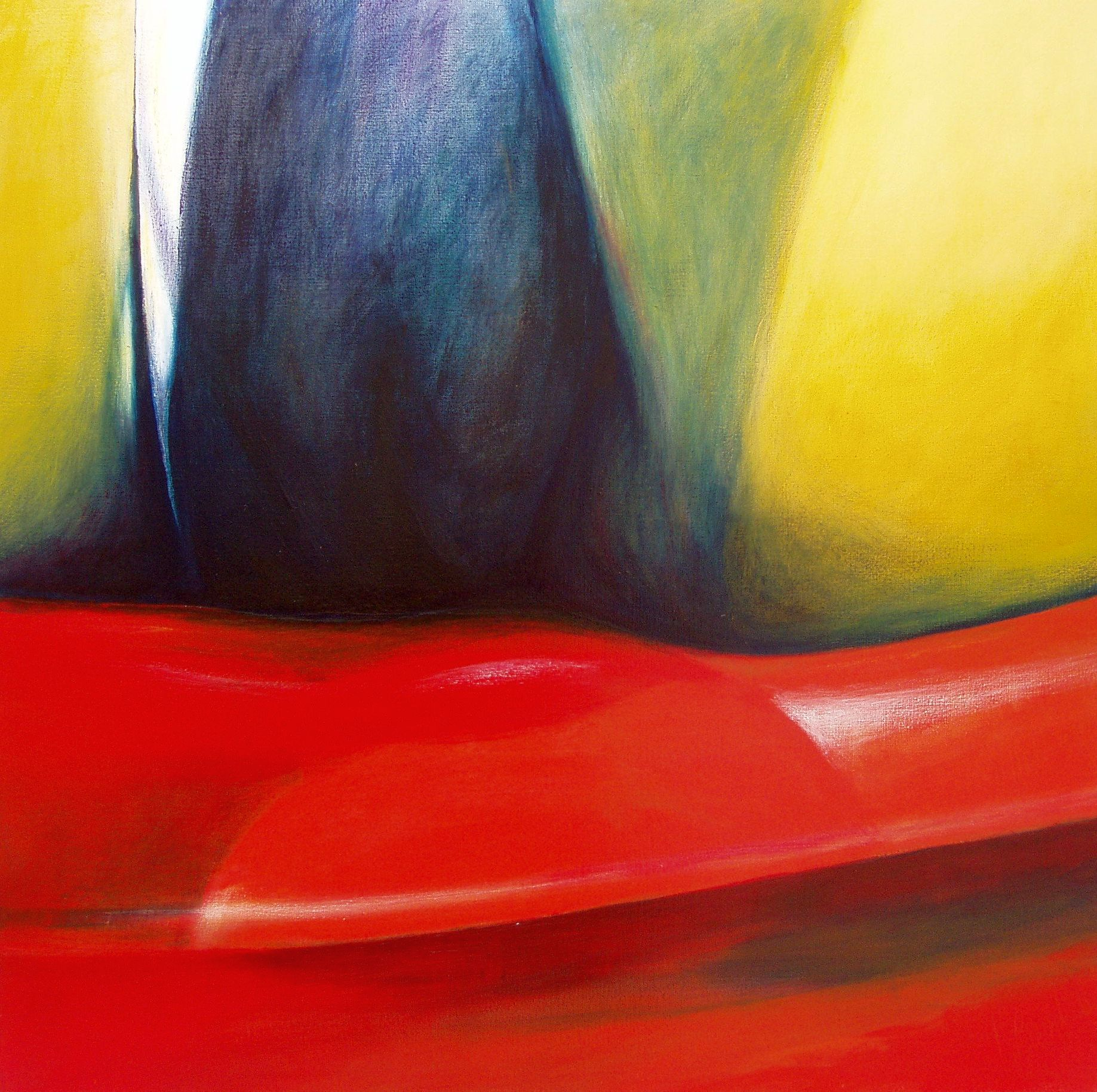 Chaise Rouge willem berkers acryl on canvas