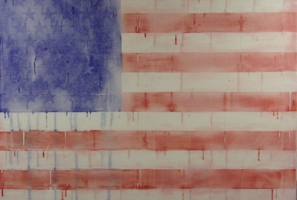 Downfall of USA United Tears of America Oil painting on canvas art Verenigde Tranen van Amerika