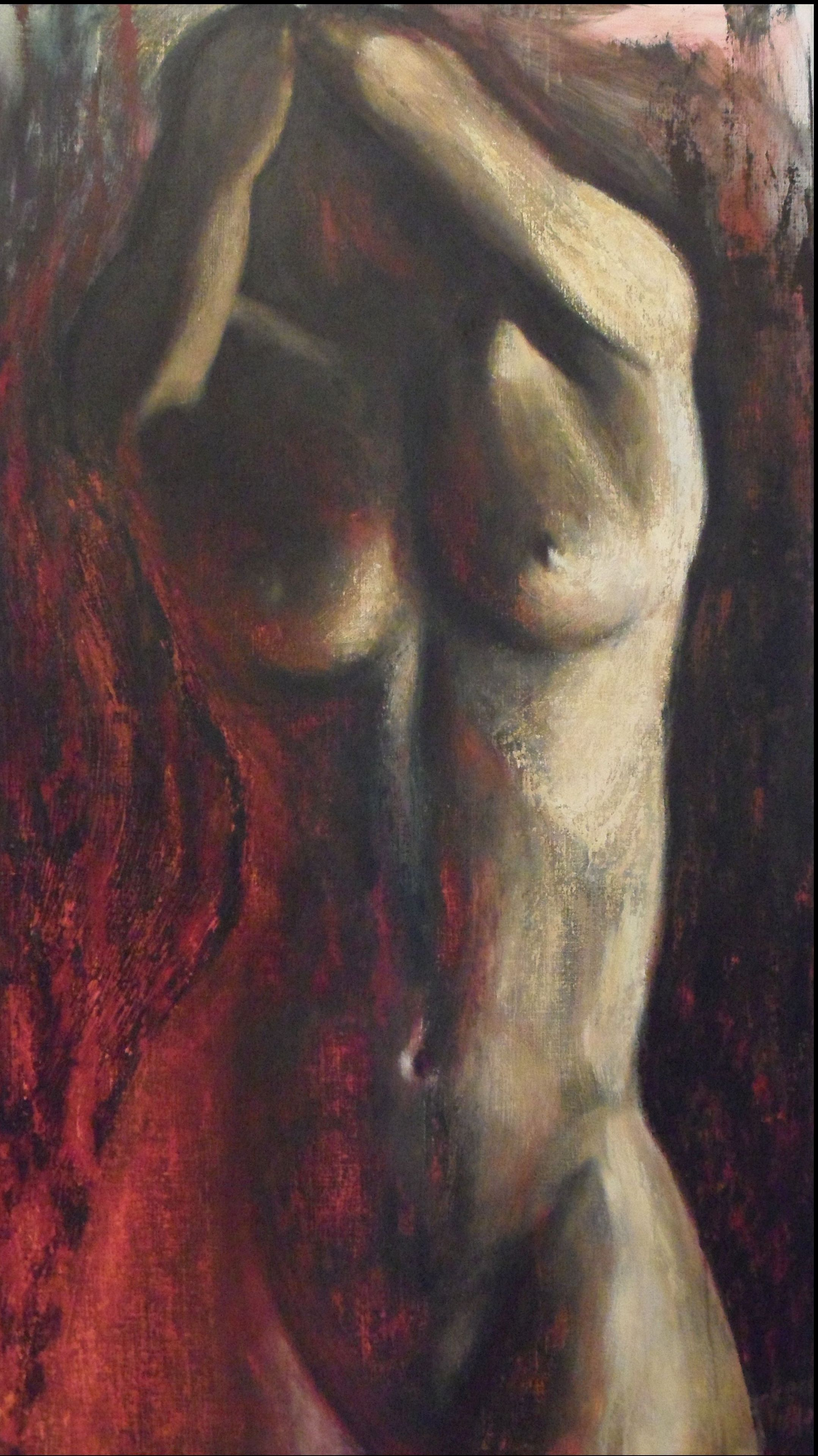 Woman Acryl on canvas willem berkers vrouw